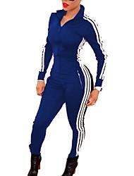 cheap -Women's Vintage Jumpsuit - Striped Color Block