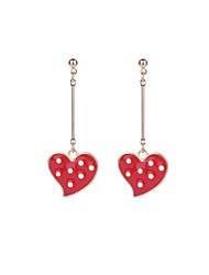 cheap -Women's Heart One-piece Suit Drop Earrings - Metallic / Cartoon / Fashion Red Earrings For Party / Formal