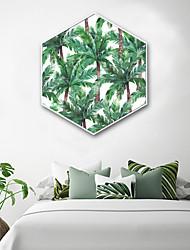 cheap -Botanical Floral/Botanical Illustration Wall Art,PVC Material With Frame For Home Decoration Frame Art Living Room Bedroom Kitchen Dining
