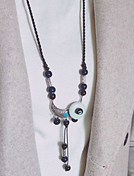 cheap -Women's Bohemian Pendant Necklace  -  Bohemian Ethnic European Geometric Dark Blue Necklace For Daily