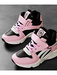 Para Meninas sapatos Courino Inverno Outono Conforto Tênis para Casual Preto Azul Rosa claro