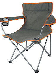 cheap -Beach Chair Camping Folding Chair Wearable Folding Breathability Metallic Oxford Cloth for Outdoor Exercise Camping