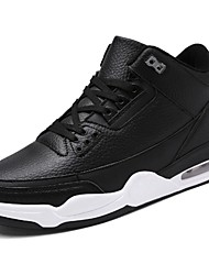 cheap -Men's Shoes PU Spring Fall Comfort Athletic Shoes Walking Shoes for Outdoor White Black Blue