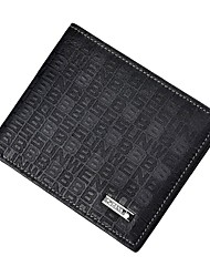 Men Bags Cowhide Wallet Pattern / Print Pockets for Shopping Casual All Season Black