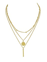 cheap -Women's Layered Necklace - Simple, Basic Gold, Silver Necklace Three-piece Suit For Date, Street