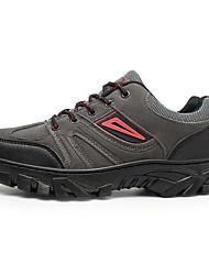 baratos -6616 Homens Sapatos de Montanhismo Borracha Equitação / Exercicio Exterior / Montanhismo Sertão, Montanhismo Pele Sintética Marron / Verde Tropa / Cinzento