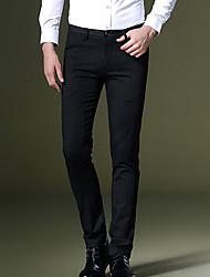 economico -Per uomo Semplice Lavoro Pantaloni - A strisce