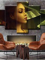 Недорогие -Наборы холстов Классика,5 панелей Холст С картинкой Декор стены Украшение дома