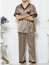 abordables -Costumes Pyjamas Homme-Pois,Points Polka