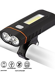 cheap -Bike Lights LED Cycling Professional Shockproof Lightweight Wearproof Anti-skidding High Quality Dust Proof Li-ion 500 Lumens Cold White