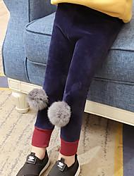 economico -Pantaloni Da ragazza Tinta unita Inverno Autunno Romantico Nero Royal Blue