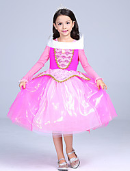 cheap -Princess Fairytale Aurora Dress Kid's Christmas Masquerade Birthday Festival / Holiday Halloween Costumes Pink Color Block Ball Gown Slip