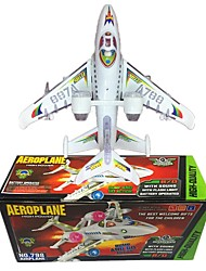 cheap -Toy Airplane Model Building Kit Plane Plane / Aircraft Walking Electric Soft Plastic Boys' Kid's Gift 1pcs