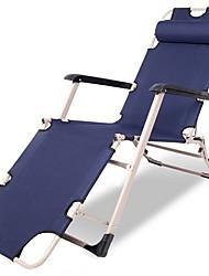 """Недорогие -Пляжное кресло Складное туристическое кресло Складной Ткань """"Оксфорд"""" Легированной стали для 1 человек Пляж Походы Осень Весна Белый Темно-синий Кофейный"""