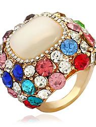 Недорогие -женская заявка кольца кубического циркония старинная мода европейский сплав круг ювелирные изделия подарок новый год