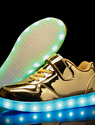 cheap -Boys' Shoes PU Fall / Winter Light Up Shoes Sneakers LED for Gold / Silver / Pink