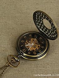 Недорогие -Для пары Кварцевый Карманные часы Часы со скелетом Китайский Повседневные часы сплав Группа Роскошь Винтаж На каждый день Бронза