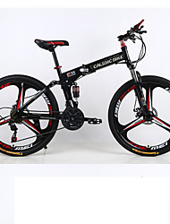cheap -21 speeds Folding Mountain Bike 3 Spokes  Bicicleta Plegable Wheels 26*Frame 17 *Tire 1.95 Mountain Bike 26