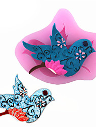 cheap -Magpie Bird Shape Fondant Cake Liquid Silicone Molds Biscuits Mould DIY Decorating Tools
