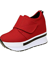 cheap -Women's Shoes Canvas Spring Fall Comfort Loafers & Slip-Ons Creepers for Casual Red Black