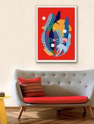 cheap -Landscape Botanical Illustration Wall Art,PVC Material With Frame For Home Decoration Frame Art Living Room Bedroom Kitchen Dining Room