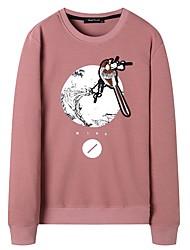 cheap -Men's Plus Size Long Sleeves Sweatshirt - Lolita, Sporty Round Neck