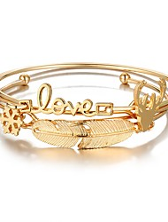 cheap -Women's Bangles - Feather Fashion Bracelet Gold For Prom / Date