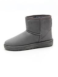 cheap -Women's Boots Winter Snow Boots / Round Toe / Flats SheepskinBowknot  / Slip-on Black / Brown / PinkSnow Boots