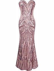 cheap -The Great Gatsby Sexy Uniforms 1920s Costume Women's Dress Cocktail Dress Masquerade Party Costume Pink Vintage Cosplay Polyster