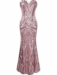 baratos -Grande Gatsby Uniformes Sensuais Anos 20 Ocasiões Especiais Mulheres Vestidos Vestido Coquetel Baile de Máscara Festa a Fantasia Rosa