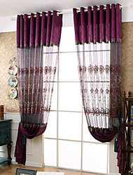 cheap -Grommet Top Double Pleat Pencil Pleat Curtain Casual Geometric Polyester Material Sheer Curtains Shades Home Decoration