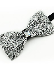 cheap -Men's Cotton Bow Tie,Vintage Party Crystal/Rhinestone All Seasons White