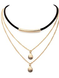 cheap -Women's Shell Simple Fashion Layered Necklace , Alloy Layered Necklace , Daily