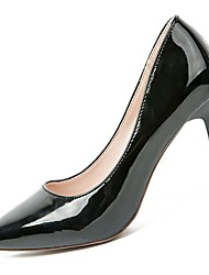 cheap -Women's Shoes PU Winter Fall Comfort Heels Stiletto Heel Pointed Toe for Casual Black Beige Pink