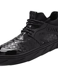 Masculino sapatos Couro Ecológico Primavera Outono Conforto Tênis Caminhada Lantejoulas para Atlético Branco Preto