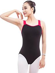 cheap -Ballet Leotards Women's Performance Cotton Split Joint Sleeveless Natural Leotard / Onesie