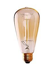 Недорогие -GMY® 1шт 60W E26 ST64 Тёплый белый 2200 К Ретро Диммируемая Декоративная Лампа накаливания Vintage Эдисон лампочка AC 110-130 В V