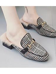 cheap -Women's Shoes Fabric Winter Fall Comfort Clogs & Mules Flat Heel for Casual Black/White Orange Black