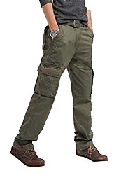 cheap -Men's Hiking Cargo Pants Outdoor Windproof, Wearable Winter Pants / Trousers Multisport