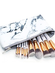 cheap -10 pcs Makeup Brush Set Blush Brush Eyeshadow Brush Lip Brush Powder Brush Foundation Brush Synthetic Hair Full Coverage Marble/Granite