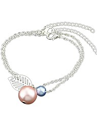cheap -Women's Turquoise Imitation Pearl Leaf Chain Bracelet - Simple Fashion Gold Silver Bracelet For Daily Date