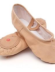 cheap -Women's Ballet Canvas Flat Practice Flat Heel Nude / Customizable