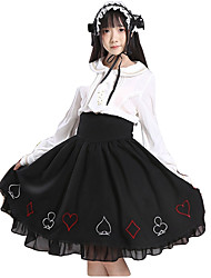cheap -Sweet Lolita Dress Princess Lolita Women's Girls' Skirt Cosplay Black Sleeveless Sleeveless Ankle Length