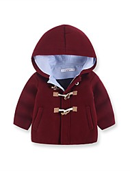 cheap -Girls' Going out Solid Down & Cotton Padded,Wool Long Sleeves Cute Red Wine Light Brown Army Green Royal Blue