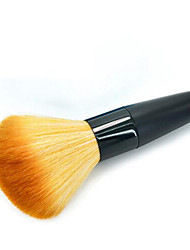 cheap -1pc Blush Brush Synthetic Hair Eco-friendly Professional Soft Wooden Aluminium Blush
