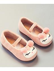 Para Meninas sapatos Flocagem Inverno Outono Conforto Rasos para Casual Preto Cinzento Rosa claro