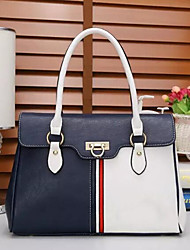 cheap -Women Bags Pigskin Patent Leather Shoulder Bag Buttons Zipper for Casual All Season Dark Blue Red Black White