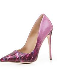 abordables -Femme Chaussures Polyuréthane Automne Confort Chaussures à Talons Talon Aiguille Bout fermé Bout pointu pour Violet