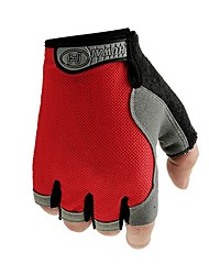 Недорогие -Спортивные перчатки Перчатки для велосипедистов Пригодно для носки Дышащий Без пальцев Нейлоновое волокно Нейлон Шоссейные велосипеды