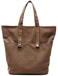 cheap -Women Bags Canvas Shoulder Bag Zipper for Casual Winter Fall Coffee Gray White Blue